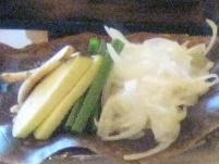 お野菜の朴葉味噌焼き